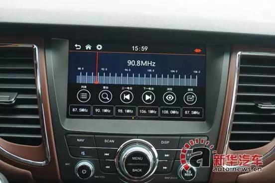 江淮瑞风原车单碟收音机背面接线图