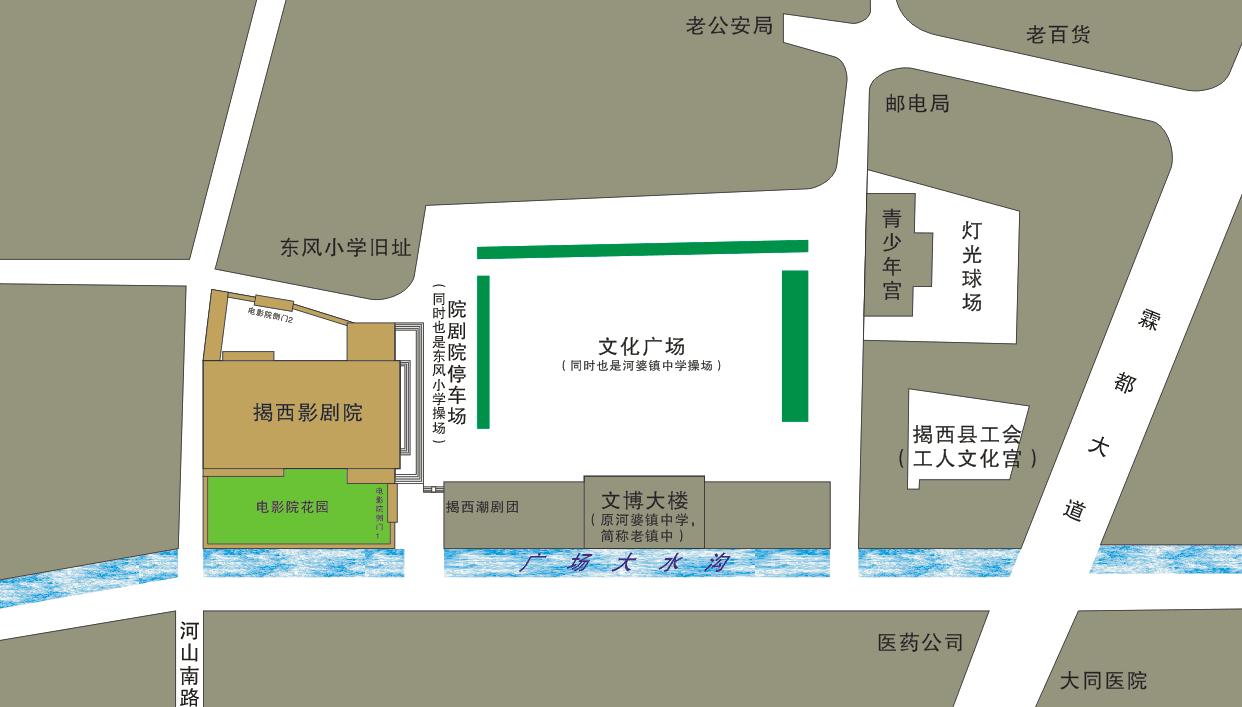 揭西影剧院平面图:(图形设计:正q)