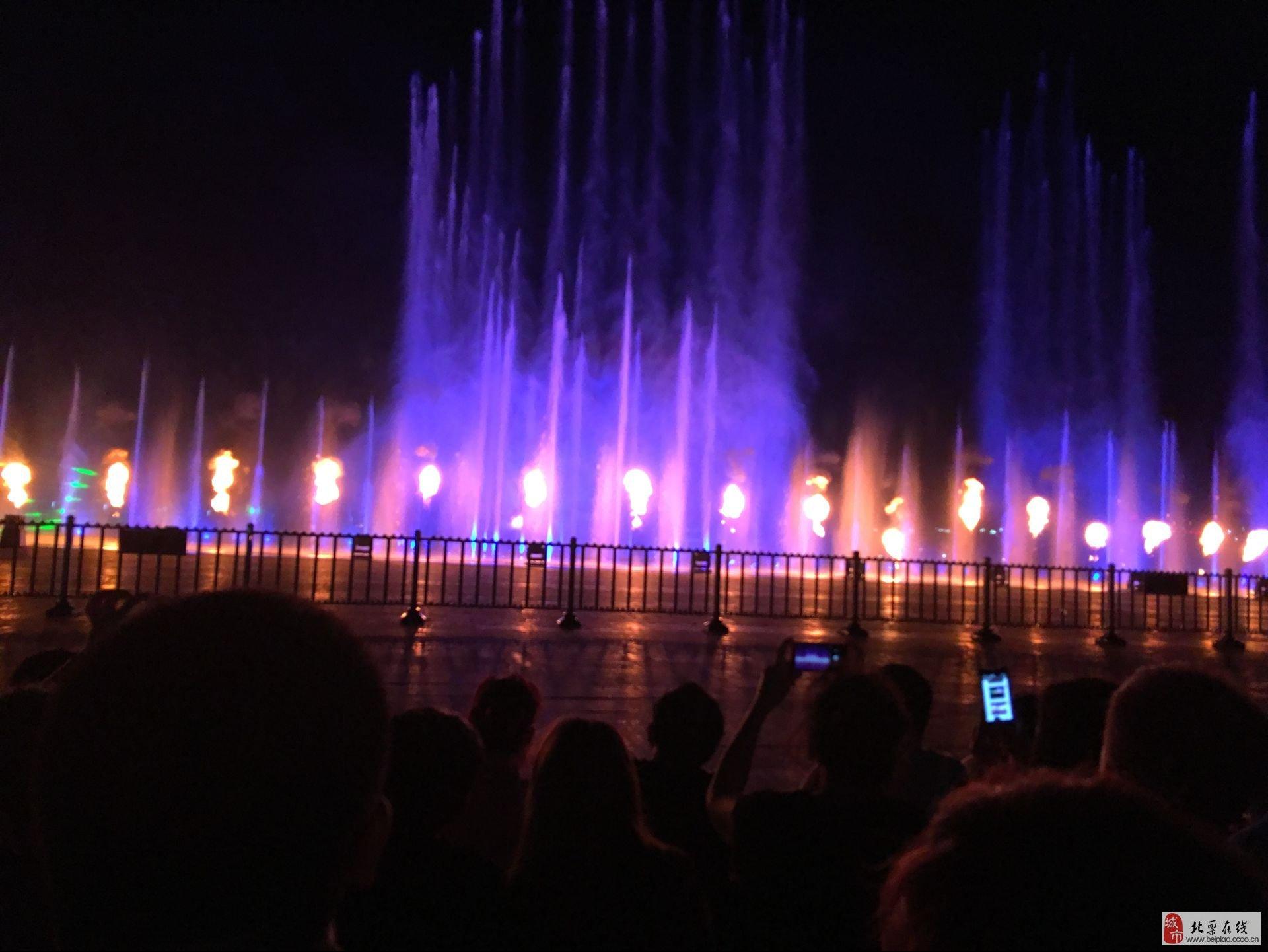 抚顺月牙岛生态公园广场音乐喷泉