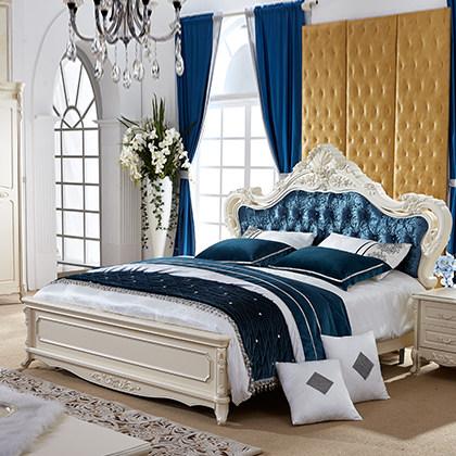 双虎家私法式床板式床公主床欧式床双人大床1