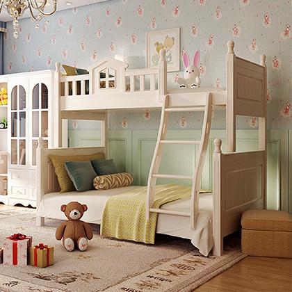 双虎家私青年房上下床田园高低床/双层子母床卧室组合