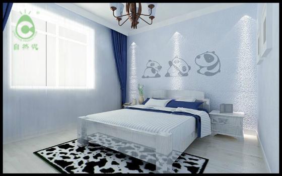 硅藻泥自然卧室效果图
