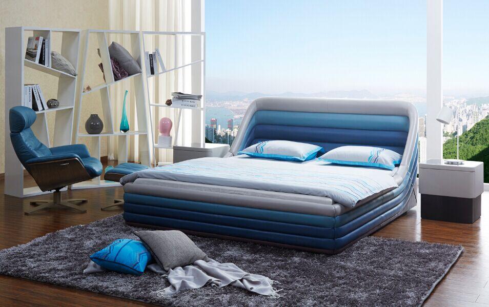 藍天美高家具紅木床