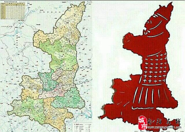 秦始皇兵马俑手绘地图