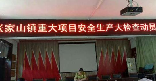 吴堡张家山镇召开重大项目安全生产大检查动员会图片