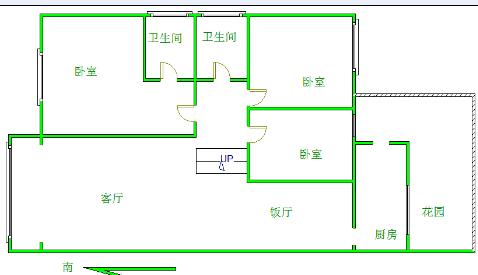 滨江半岛豪装修高品质生活 东川世家32万3室2厅1卫毛… 涪江边户型好