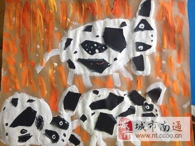 狗狗幼儿绘画作品
