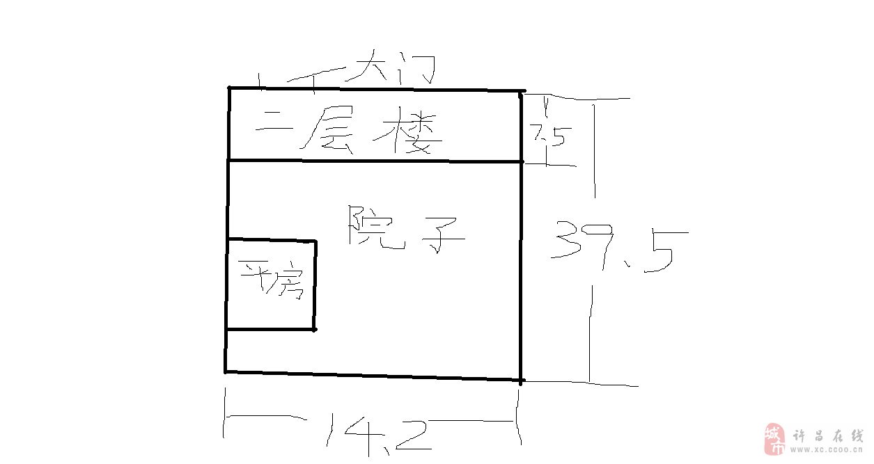 許昌縣蘇橋鎮政府對面房產出售