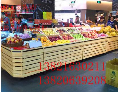 木质水果货架蔬菜货架超市水果货架水果店货架果蔬架