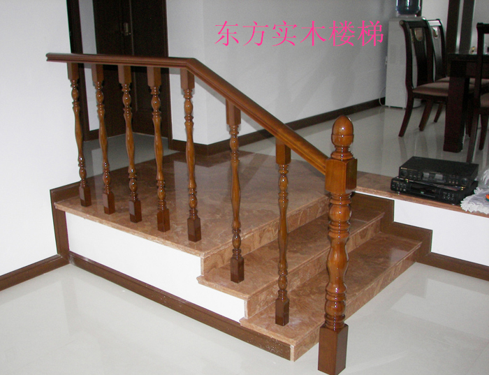 楼房实木楼梯安装设计_家居街_周口在线