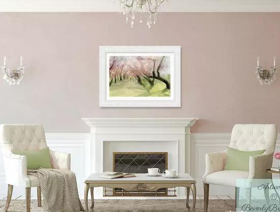 小公举最爱的樱花粉 用在客厅也美爆了