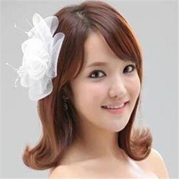 短发新娘适合的发型 短发怎么做新娘发型