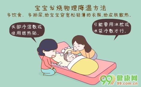 宝宝发烧物理降温方法