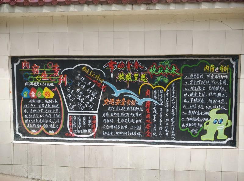 校庆主题黑板报图片图片版面设计图